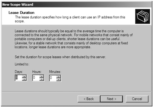 DHCP Active Scope